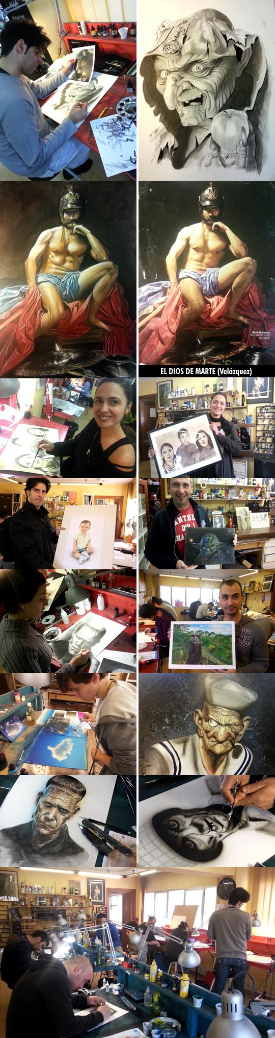 Trabajos-1-alumnos-cursos-aerografia-ilustracion-comic-academia-c10-madrid-verano-acrilicos-dibujo