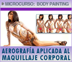 microcurso de aerografia body painting