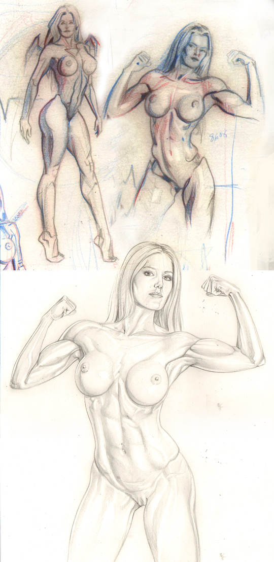 Boceto-dibujo-ilustracion-pin-up-mujer-desnudo-bellas-artes-comic-academia-c10-madrid