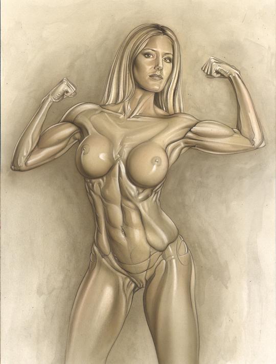 aerografia-Evita-2-aerografo-ilustracion-carlos diez-dibujante-madrid-mujerl-desnudo-artistico-dibujo