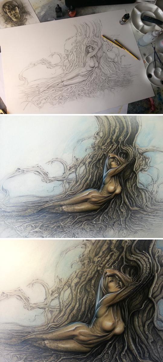 Eva-Fernandez-Carlos-Diez-ilustracion-aerografia-dibujo-aerografo-tecnicas-mixtas-moda-pin-up-comic