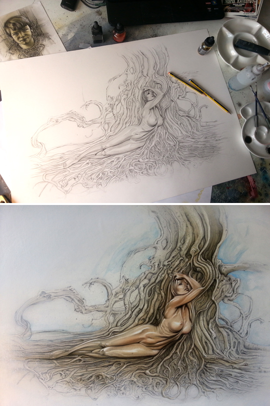 dibujo-ilustracion-aerlgtafia-aerografo-mujer-moda-pin-up-fanatasia
