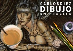 Carlos-Diez-Cecilia-Gessa-ilustracion-dibujo-aerografo-aerografia-fantasia-comic