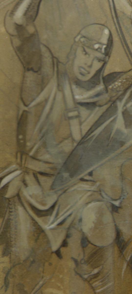ilustracion tributo principe valiente harold foster carlos diez aerografia aerografo academia c10 madrid