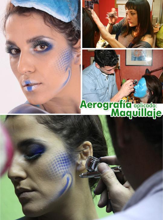 Trabajos de los cursos de ilustracion y aerografia profesional en academia c10 de madrid.
