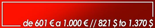 obras valoradas entre 601 y 1.000 euros