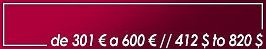 obras valoradas entre 301 y 600 euros