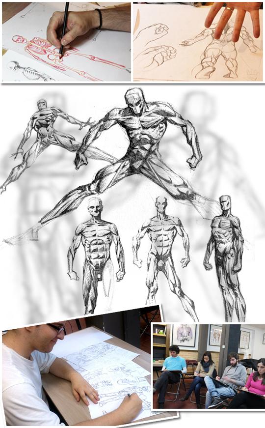 Cursos de dibijo del natural con modelo para comic, aerografia, ilustracion, digital, manga