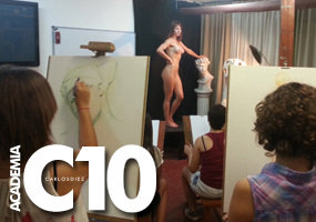 Cursos de dibujo del natural con modelo en Academia C10, el complemento perfecto a los cursos de aerografía