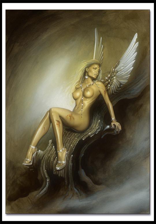 Carlos-Diez-Dibujo-ilustracion-pin-up-moda-aerografia-aerografo-mujer-angel-celestial-clasico-alas