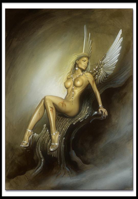 Carlos Diez-Dibujo-ilustracion-pin up-moda-aerografia-aerografo-mujer-angel-celestial-clasico-alas