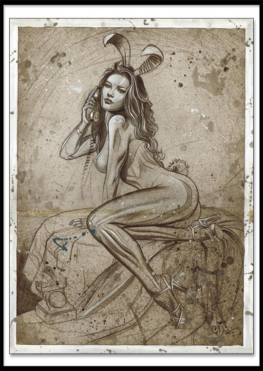 Carlos Diez Dibujo ilustracion pin up moda clasica
