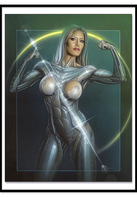 Carlos Diez Dibujo ilustracion pin up moda fantasia aerografia mujer guerrera