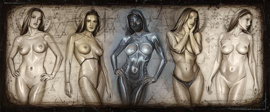 Carlos-Diez-Dibujo-ilustracion-pin-up-moda-fantasia-cyber-punk-aerografia