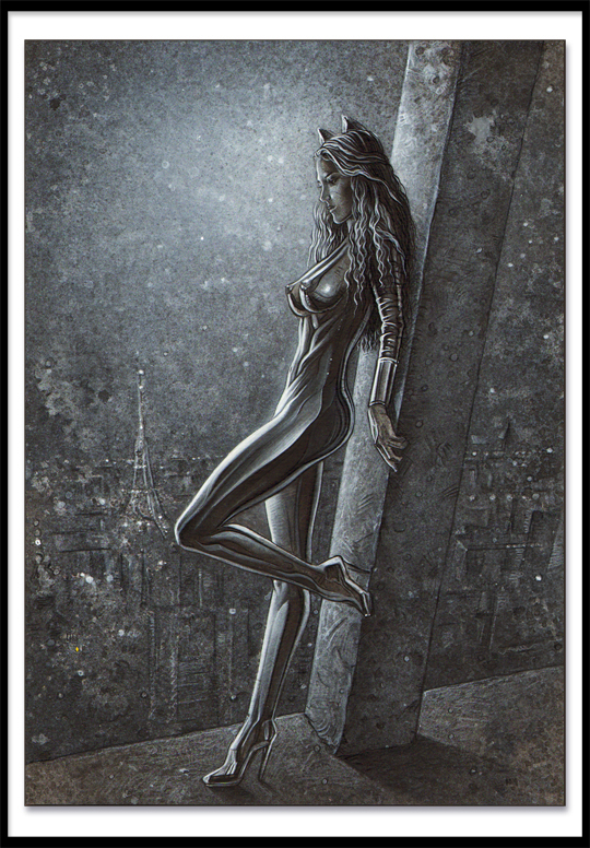 Catwoman-Carlos-Diez-Dibujo-pin-up-Paris