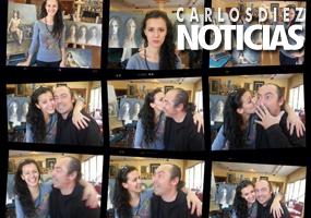 Visita de Saskia León al taller de Carlos Díez