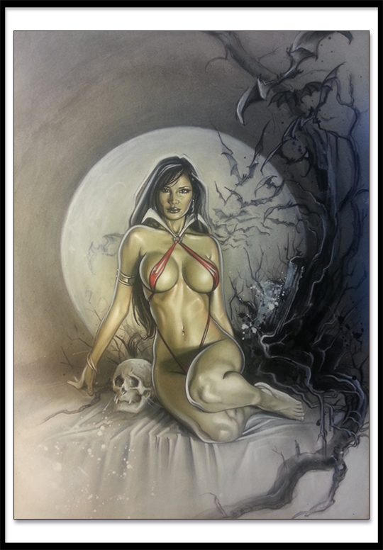 Vampirella-Ilustracion-Carlos Diez-Fantasy-Pin-Up