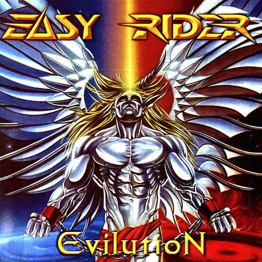 Aerografia_carlos diez_ilustracion_tatuaje_tributo_heavy metal_disco_moda_easy rider_angel_demonio_dibujo_Easy Rider_Evilution