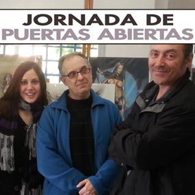 Una nueva jornada de puertas abiertas en el estudio de Carlos Díez