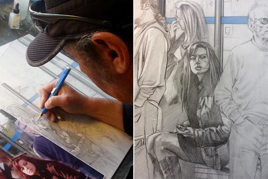 carlos diez_ilustracion_arte original_aerografia_moda_dibujo_en proceso_WIP_Work In Process