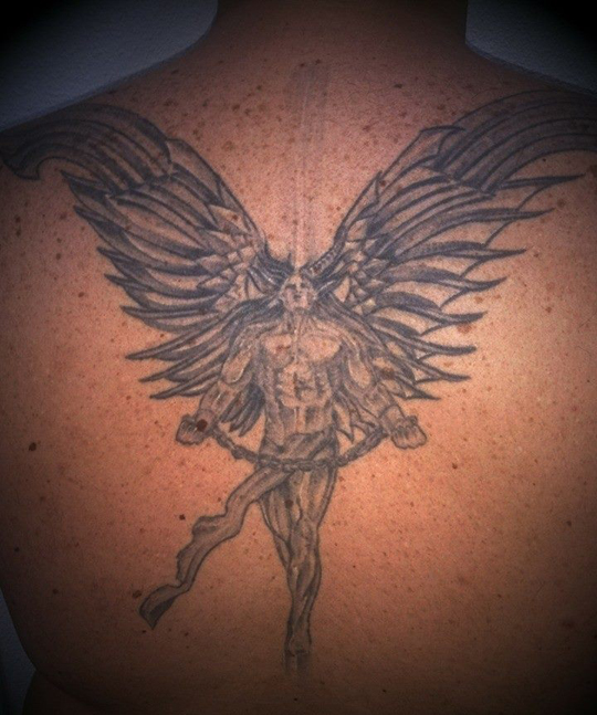 carlos diez_ilustracion_tatuaje_tributo_heavy metal_disco_moda_easy rider_angel_demonio_dibujo
