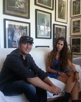 Nuevo día de rodaje en el estudio de Carlos Díez