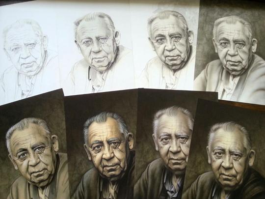 carlos diez_aerografia_paso a paso_arte en venta_ laminas_plotters_impresion_retrato_familia_aerografia
