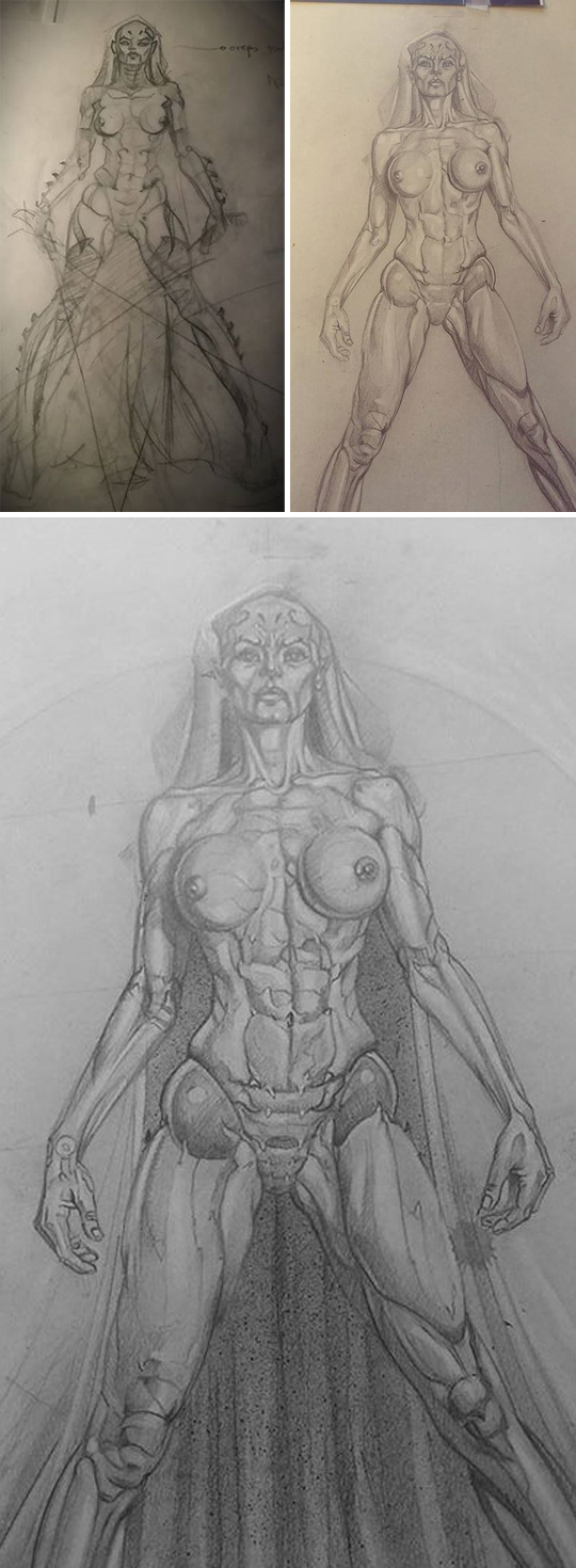 Asajj Ventress_sith_star wars_carlos diez_illustration_ilustracion_academia c10