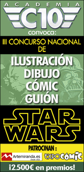 ¡Participa! III Concurso Nacional de Ilustración, Cómic y Guión Star Wars de Academia C10
