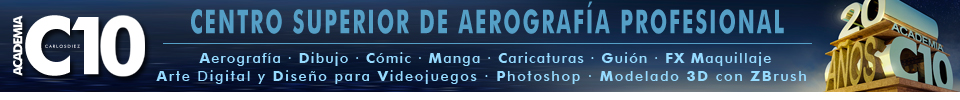 academia c10,aerografia,comic,ilustracion,cursos,clases
