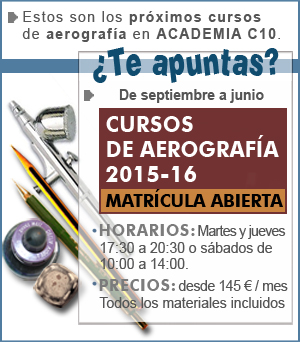 Nuevos Cursos Academia C10 - Aerografía, Cómic, Ilustración