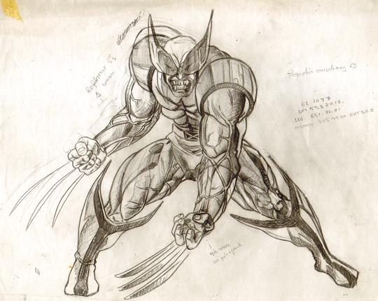 Lobezno-X-Men-boceto-carlos-diez- Patruya X