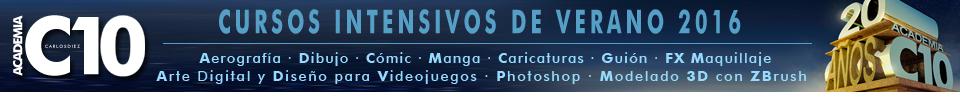 academia c10,aerografia,comic,ilustracion,cursos,clases,verano